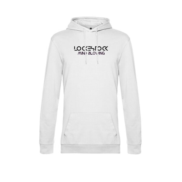 Hoodie White Front text