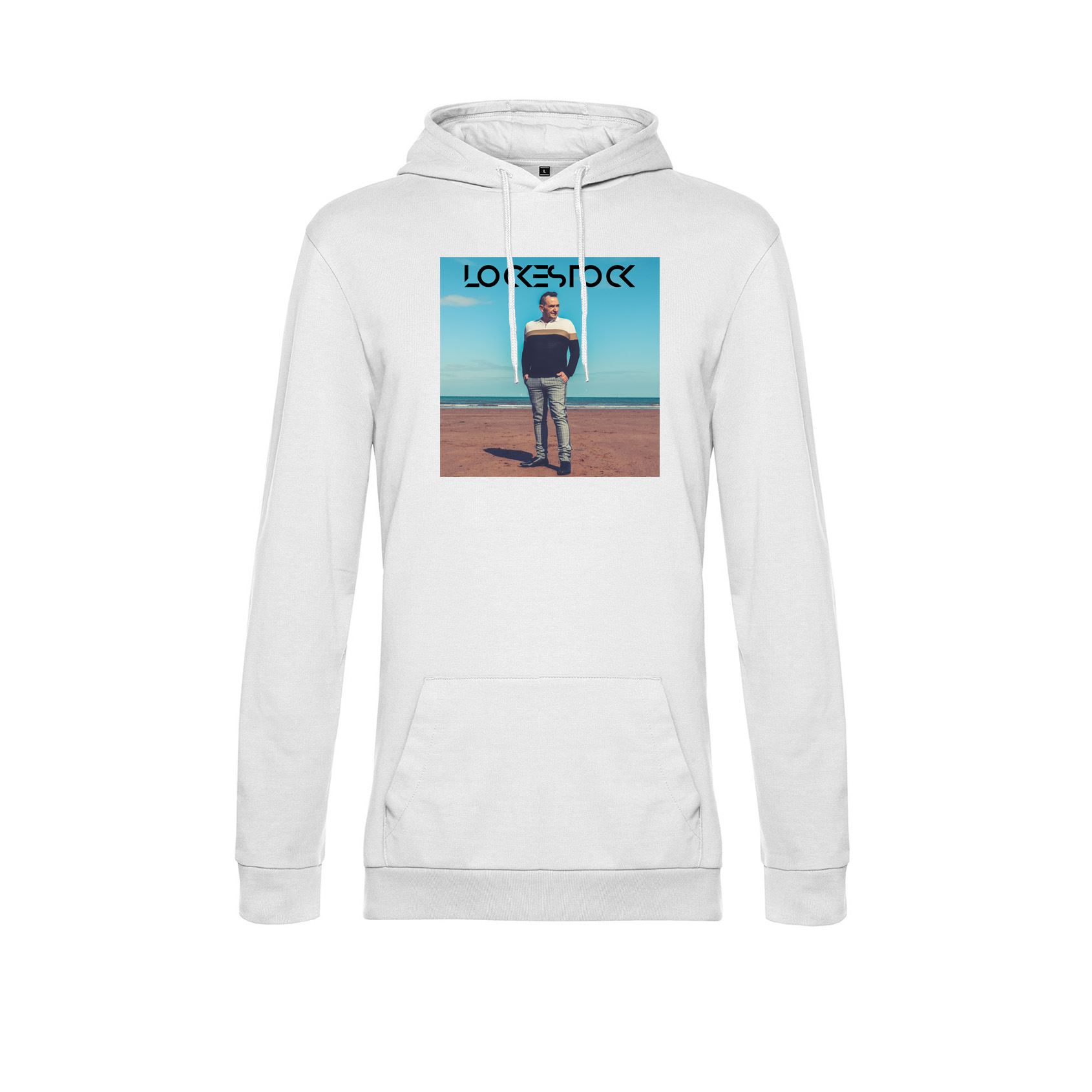 Hoodie White Front Kevin